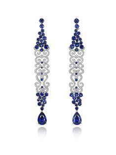 Chopard High Jewelry – Saphir und Diamanten - For Diy Jewelry High Jewelry, Jewelry Accessories, Jewelry Design, Unique Jewelry, Amber Jewelry, Silver Jewelry, Sapphire Jewelry, Diamond Jewelry, Diamond Earrings