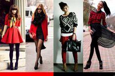Looks en rojo y negro