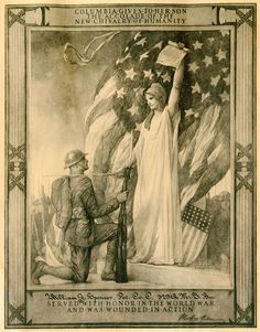 Certificate given to all American WWI veterans wounded in action. Heroes that we really don't understand the measure of. Heroes flat out!