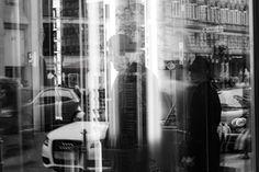 Spiegelbild Reflection, Frankfurt, Photography, Mirror Image, Black White Photography, Monochrome, Shop Windows, Photo Illustration, Photograph