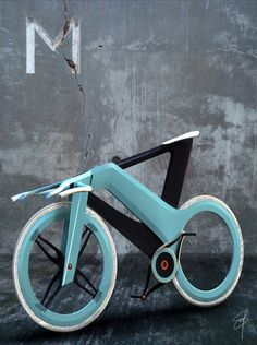 The Mooby Bike by Simone Madella is uber innovative vehicle that totally pushes the boundries of the traditional concept of a bicycle. The design is very unique in comparison to the the wide-spread. Bici Fixed, Fixed Bike, Velo Vintage, Vintage Bicycles, Bike Style, 3d Models, Cafe Racer, Vw T1, Cool Bicycles