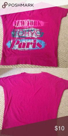 A cute Aeropostale  t-shirt It a loose shirt with Tokyo ,Paris ,new work  written on it Aeropostale Tops Tees - Short Sleeve