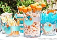 I love lucy inspired baby shower.  #babyshower #candy #lucy