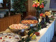 how to set up a buffet table at a party with chafing dishes buffet rh pinterest com buffet table set up ideas pdf thanksgiving buffet table setting ideas