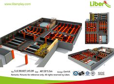 Liben Customized Indoor Trampoline Park for Poland Client