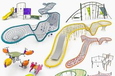 Kompan Playground Equipment Set - Architecture - 1
