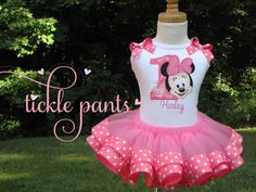 Baby Minnie Birthday Collection  Includes by TicklePants on Etsy, $59.99