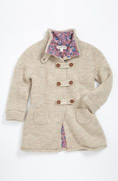 Tucker + Tate 'Cory' Sweater Coat (Toddler Girls) | Nordstrom