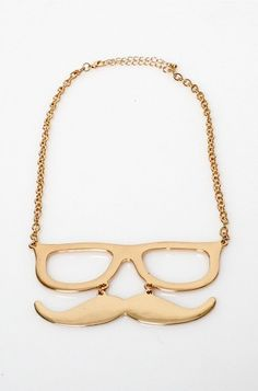 GLASSES AND MUSTACHE NECKLACE FROM LOVE MELROSE