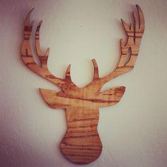Moose - Deer Wood Cut out. $36.00, via Etsy.