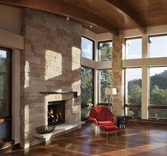 Pine Brook Boulder Mountain Residence Living Room - modern - living room - denver - Mosaic Architects Boulder