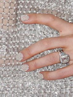 Caviar nails are so cool! And i love the ring!