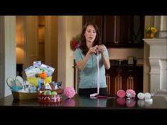 ▶ Dollar Tree Craft Idea - Rosette Kissing Ball - YouTube