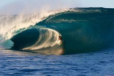 Teahupoo, Tahiti, Big wave surfing june 2nd, 2011 © Ben Thouard : Laird Hamilton, the golden hour at Teahupoo