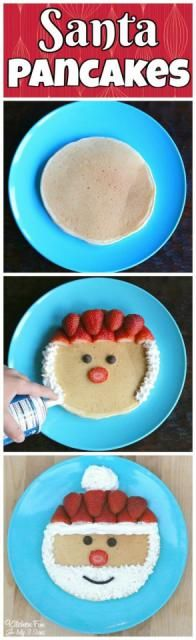 Christmas Santa Pancakes #Food #Drink #Musely #Tip