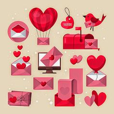 Love Letter And Email Icons