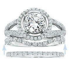 Half Eternity Band Wedding Ring 19mm 021ct VVS H by InOurStar