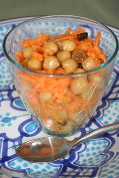 salade carotte pois chiche et raisin