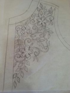 Awesome Most Popular Embroidery Patterns Ideas. Most Popular Embroidery Patterns Ideas. Embroidery Neck Designs, Hand Embroidery Patterns, Ribbon Embroidery, Floral Embroidery, Beading Patterns, Cross Stitch Embroidery, Machine Embroidery, Bordado Floral, Motifs Perler