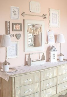 Bedroom makeover gallery wall inspiration - girls room