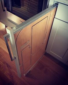 Hideaway Solutions: Folding Step Stool Pulls Out From Cabinet - Hidden cabinet stairs