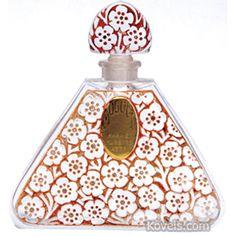 Perfume Bottle Lubin Enigma Pyramid Gold Sphinx Box Scarab J Viard C1921