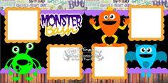 Scrapbook Page Kit Halloween Party Monster Bash Boy Girl Baby #PageKitEmporium