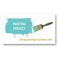 #Painter's brush, #painting #aqua #blue #businesscards See more business cards here  http://www.zazzle.com/justbusinesscards?rf=238228936251904937=zBookmarklet