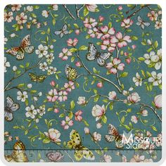 Papillon - Floral Blue Yardage - Kate McRostie - Windham Fabrics - Must, must, must be a dress!  Amazing fabric.