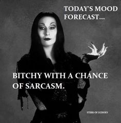 Bitchy with a chance of sarcasm Sassy Quotes, Sarcastic Quotes, Me Quotes, Funny Quotes, Funny Memes, Retro Humor, Happy Tuesday Quotes, Short Friendship Quotes, Witch Quotes