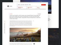 Ireland blog design