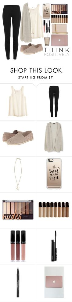 """Back to school outfit"" by fashiongirl3034 on Polyvore featuring H&M, Polo Ralph Lauren, TOMS, MANGO, Kate Spade, Casetify, MAC Cosmetics, Trish McEvoy and Diane Von Furstenberg"