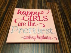 Baby girl wall art. Quotes on canvas. Nursery art.  on Etsy, $19.00