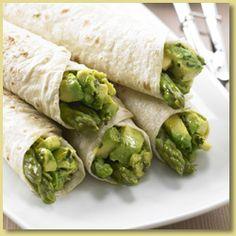 Avocado, Basil and Asparagus Roll Ups Recipe - Avocados Australia