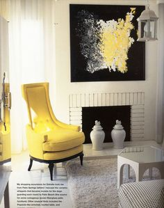 Kelly Wearstler - Interior Designer - love the painting