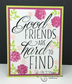 You have to check out the fresh, never seen before greetings in the new Lovely Friends stamp set from Stampin' Up!  #stampinbj.com