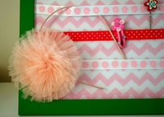 Fun Project to do with your kids: DIY No Sew Hair Clip Holder by Sew Adorable Fabrics - makes a quick, inexpensive but super cute DIY birthday present for girls #DIY #present #girl #no sew