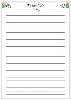 FREE PRINTABLE: On ONE sheet of paper, write out what your ideal life looks like as a whole 90 days from now - like a one page essay covering all the areas of your life. This is your ONE PAGE LIFE PLAN. #Printable