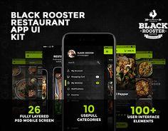 "Check out new work on my @Behance portfolio: ""Black Rooster Restaurant App UI Kit"" http://be.net/gallery/44642369/Black-Rooster-Restaurant-App-UI-Kit"