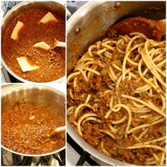 The Best Bucatini Bolognese you will ever eat! Full of flavor and rich texture, it's a labor of love that is so worth the effort to make for its comfort and enjoyment. Beef Bolognese Recipe, Pasta Recipes, Cooking Recipes, Italian Table, Greek Recipes, Pasta Dishes, Spaghetti, Soup, Ethnic Recipes