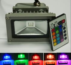 20 Watt, 2000Lm, RGB Floodlight with remote Control  This will be great lighting for entertaining in my back yard.