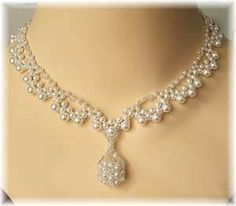 Lacey pearl collar
