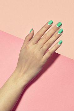 favorite nail trend: the half moon mani
