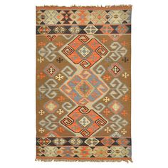 Bring cosmopolitan style to your living room or patio with this chic hand-woven indoor/outdoor rug, showcasing a tribal-inspired motif and fringe trim. Made ...