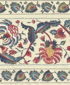 Genuine Dutch Chintz Border Fabric  Marken Ecru  by Motifsbyhand, $4.50