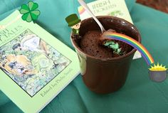 Lucky leprechaun surprise chocolate mint mug cake (and gluten-free!)