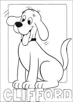 Desenhos para colorir para crianças. Desenhos para imprimir e colorir Clifford 1