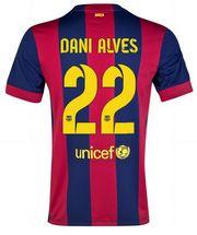14-15 Football Shirt Barcelona Cheap Dani Alves #22 Home Replica Jersey [153]