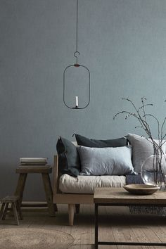 Check out the Shadow Blue - 5566 Linen Wallpaper in Paint & Wallpaper, Wallpaper from Boråstapeter for .