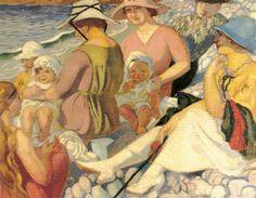 The Athenaeum - Sur la plage (Maurice Denis - )